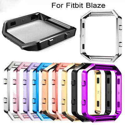 For Fitbit Blaze Replacement Stainless Steel Metal Frame Polished Case Cover Polished Steel Metal