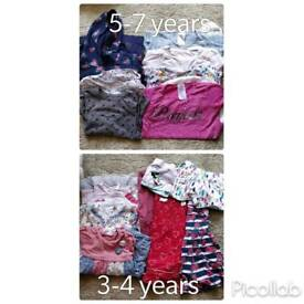 Girls clothes 3-4 years and 5-7 years