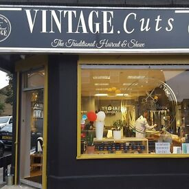 VINTAGE.CUTS barber / hairdresser WANTED 01992 700 444 ENFIELD