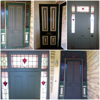 Federation lead light entrance door. Demolition sale