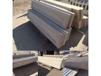 Concrete plinths / gravel boards / kickboards