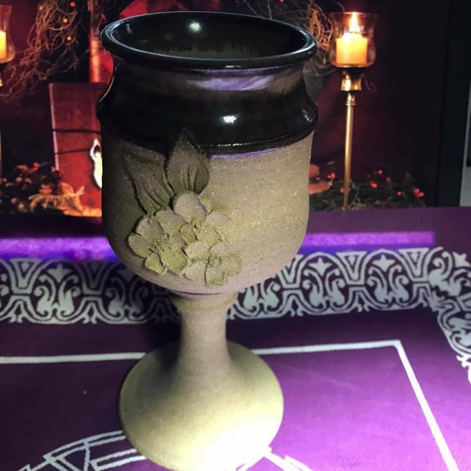 Chalice Altar Item Pottery Pagan Wicca Witchcraft Magic Goblet