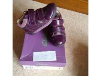 Purple Clarks boots -size 7