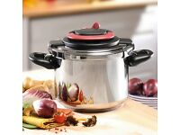 TEFAL 6 LITRE CLIPSO PRESSURE COOKER-NEW AND BOXED
