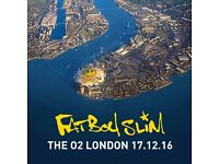 Fatboy Slim at The O2, London x2 standing tickets for sale