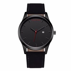 Brand New Black Dial Quartz Watch with Leather Band-shipping