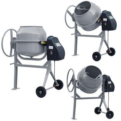 140L Cement Mixer 550W Power Portable Mortar Plaster Concrete Drum Electric UK