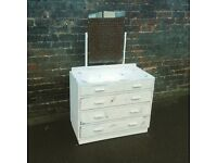 Vintage dressing table / drawers, Hand painted and waxed