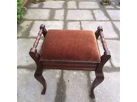 vintage piano stool