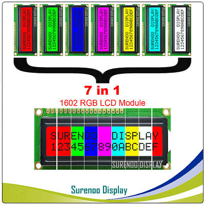 162 16x2 1602 Character Lcd Module Display Screen Lcm W Rgb Backlight 7in1