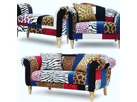 Sofa, snuggle chair and foot stool which opens for storage