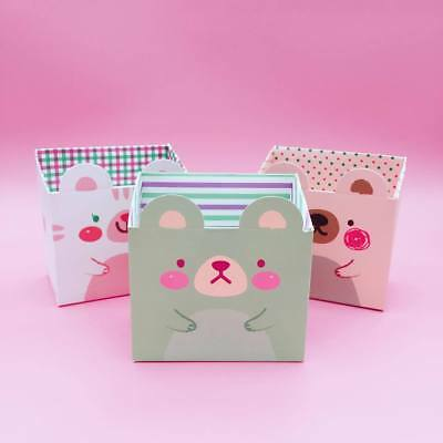 Cute Animal Desk Tidy Stationery Storage Boxes Kawaii Bear Japanese Pastel Gift