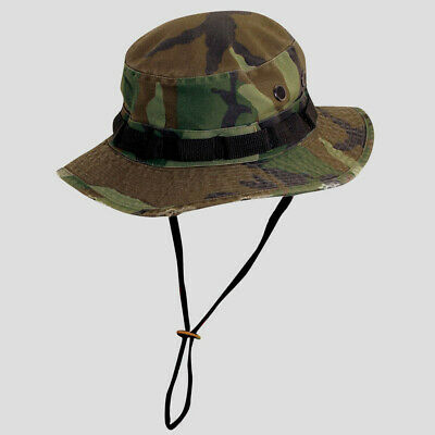 Military Style Camo Boonie-UPF 50 UV SUN Block SPF Hat-Cotton Blend-Green-Large Camo Boonie Sun Hat