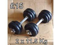 Dumbbells - 2 x 11.5 Kg