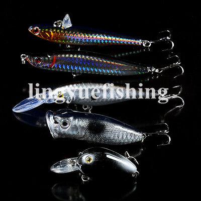 10 Blank Minnow Fishing Lure Bodies 5 1//4 Inch 3//8 oz Unpainted lure UPM752P10