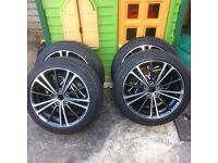 New TOYOTA GT86 SUBARU BRZ SET OF 4 ALLOY WHEELS AND TYRES 5x100
