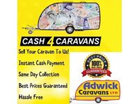 CASH FOR CARAVANS