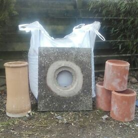 Chimney pot, coping stone and 3 liners