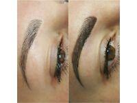 Permanent makeup microblading eyebrows portfolio 2-3 models