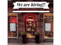 Full time Bar tender wanted