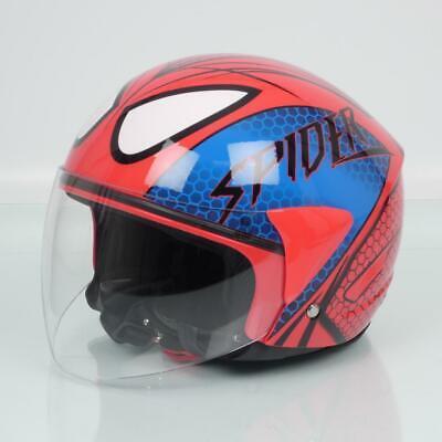 Casco Jet One Spider Rojo para Hombre/Mujer Talla XL 61cm Scooter Moto...