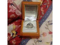 White gold diamond ring engagement ring valued at £599