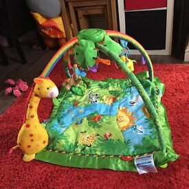 fisher price rainforest play gym light and music