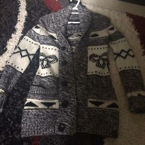 TNA long knotted sweater