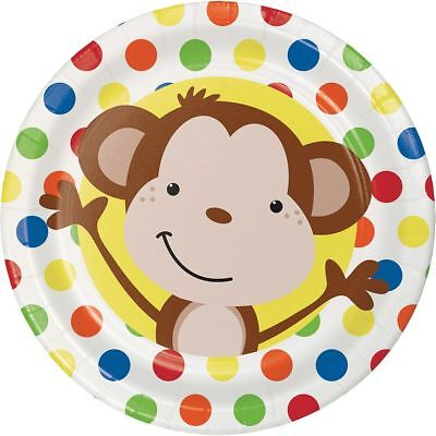 per Plates Childrens Birthday Party Tableware Supplies Boys (Monkey Party Supplies)