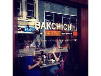 Bakchich Manchester seeking a full time or a part time waiter or waitress
