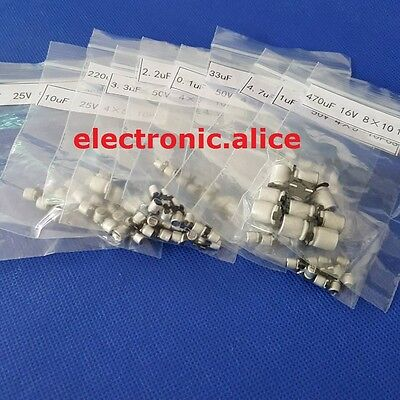 12 Value120pcs Smd Aluminum Electrolytic Capacitors Assortment Kit 0.1uf 470uf