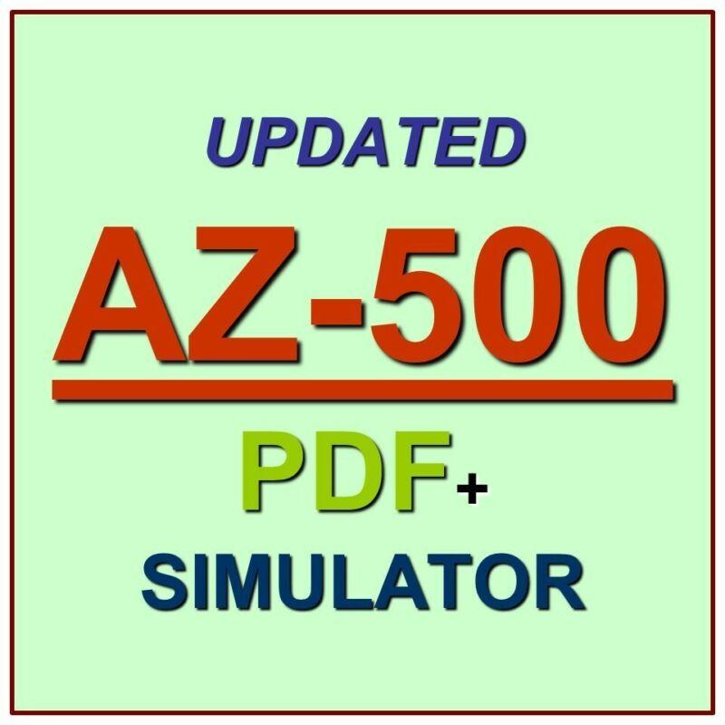 Latest AZ-500 Verified Practice Test Exam QA SIM PDF+Simulator