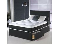 🔴 Lowest Price Offer 🔴 Plain Divan Head Board with Mattress and Drawers