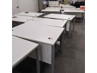 White 120cm Office Desks - FREE DELIVERY