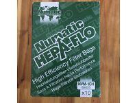 Numatic HepaFlo Hoover Vacuum Bags x9