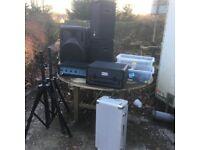 AMP PA SPEAKERS X4 KAREOKE CDG MIXER