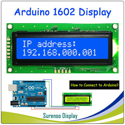 Uart Cmos Serial Blue 1602 162 162 Character Lcd Module Display Lcm For Arduino