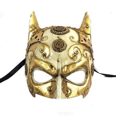 Antique Gold Batman men Masquerade Mask Cosplay Costume Prom Party Mask (Masquerade Costumes Men)