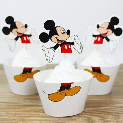24pcs Mickey Mouse cupcake Birthday Wedding Party Decorations Cupcake paper cup - Mickey Mouse Cupcake