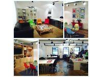 Central Brighton desk space in a shared creative studio / office.