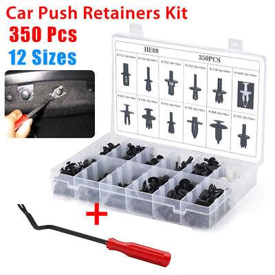 350pcs Auto Car Push Retainer Pin Rivet Trim Clip Panel Moulding Assortment+Tool