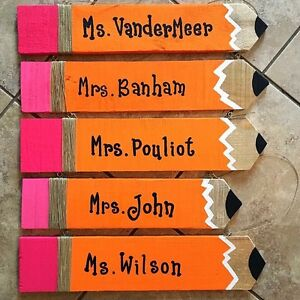 Personalized Teacher Pencils