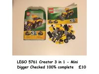Lot 40 to49 All Lego available. Image will be removed when sold :-)