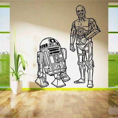 XL Star Wars Droiden R2D2 C3PO Wandtattoo Aufkleber Bild 3D Deko Film Tapete Neu comprar usado  Enviando para Brazil