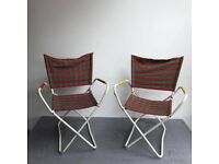 Pair of Vintage Metal, Folding chairs