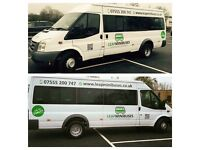 Minibus Hire, Male/Female Drivers, 66 Plate Minibuses, Card Payments Accepted. Superb Services.
