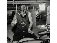 Rock/metal Session drummer available