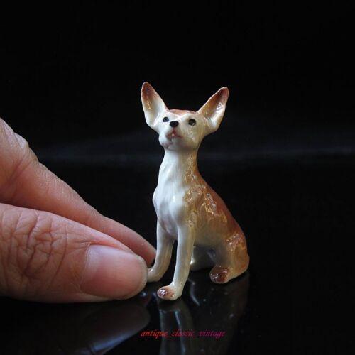 Chihuahua Dog Ceramic Figurine Handmade Collectibles Dollhouse Miniature Gift