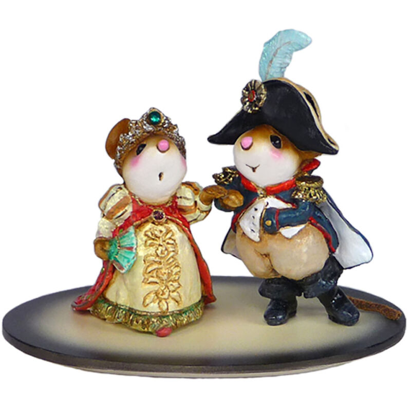 Wee Forest Folk NAPOLEON AND JOSEPHINE, WFF# M-529, *Historical Love Mouse