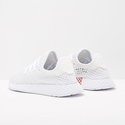 Womens Adidas Deerupt White Trainers Size UK 4